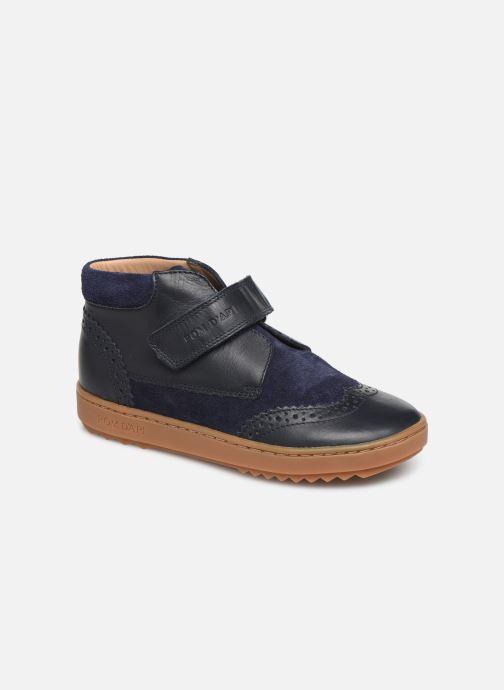 Chaussures à scratch Pom d Api Wouf easy pad Bleu vue détail/paire