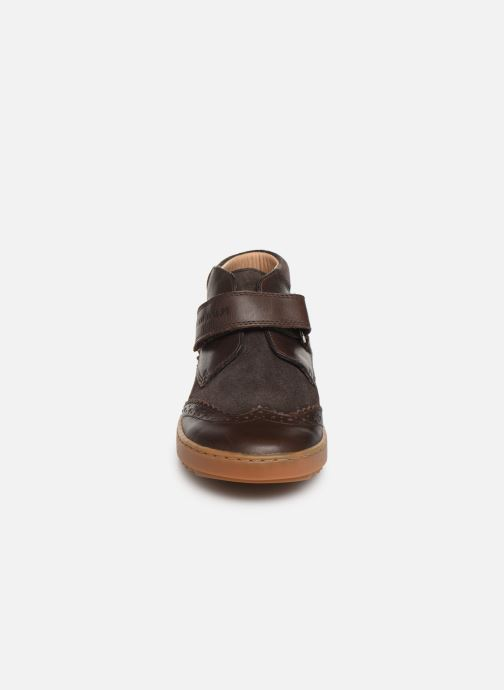Velcro shoes Pom d Api Wouf easy pad Brown model view