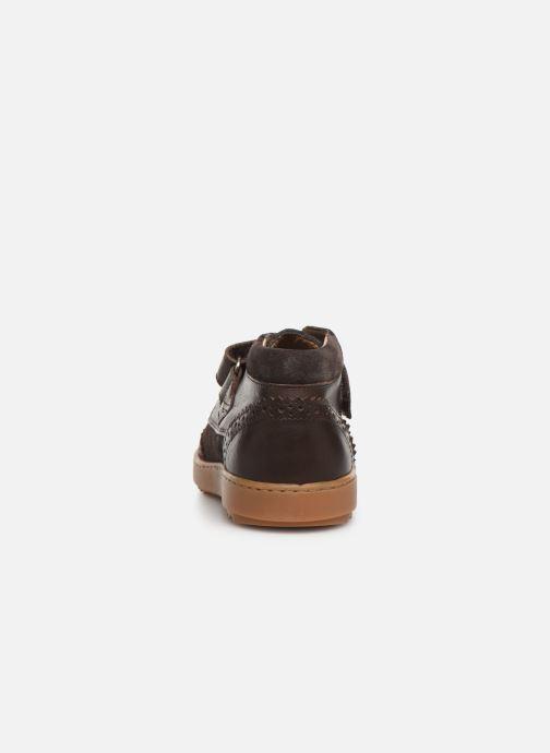 Chaussures à scratch Pom d Api Wouf easy pad Marron vue droite