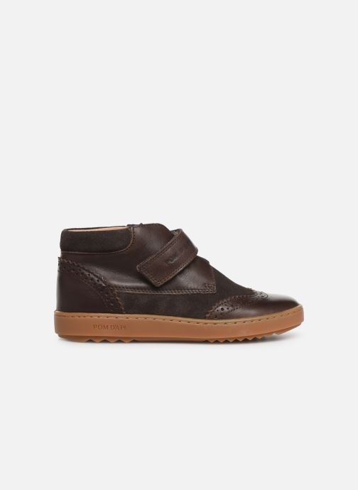 Velcro shoes Pom d Api Wouf easy pad Brown back view