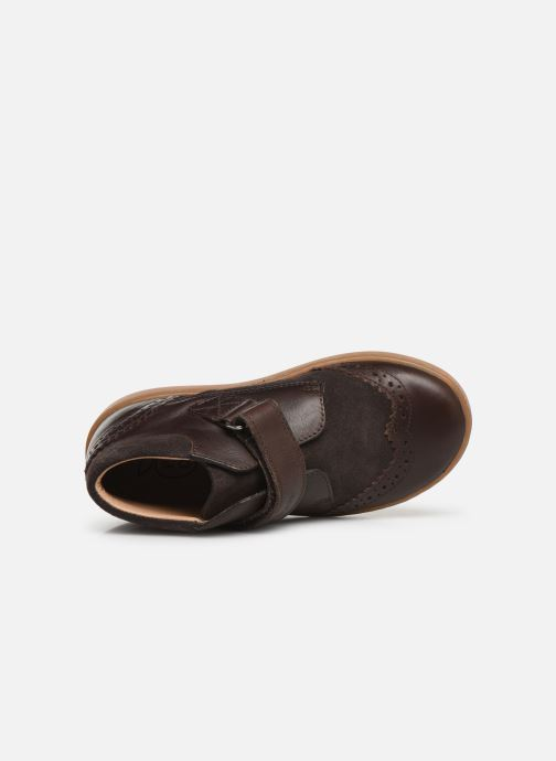 Velcro shoes Pom d Api Wouf easy pad Brown view from the left