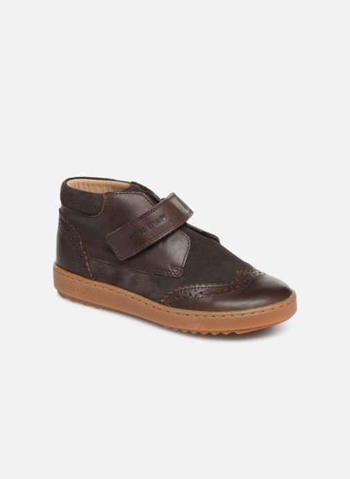 Schoenen met klitteband Pom d Api Wouf easy pad Bruin detail