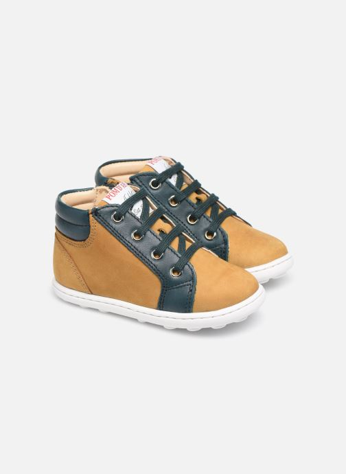 Bottines et boots Pom d Api Tip hi zip Beige vue 3/4