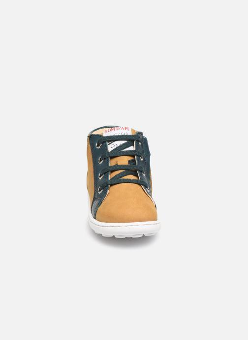Bottines et boots Pom d Api Tip hi zip Beige vue portées chaussures
