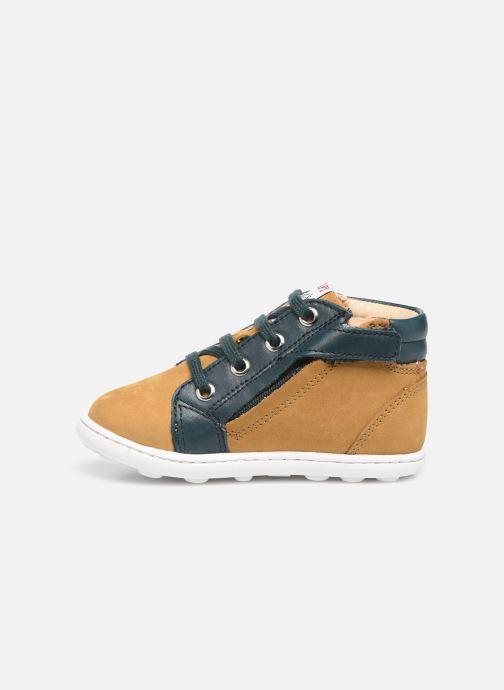 Boots en enkellaarsjes Pom d Api Tip hi zip Beige voorkant