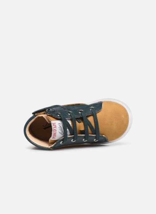 Bottines et boots Pom d Api Tip hi zip Beige vue gauche