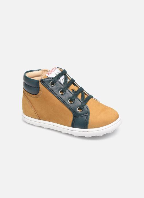 Bottines et boots Pom d Api Tip hi zip Beige vue détail/paire