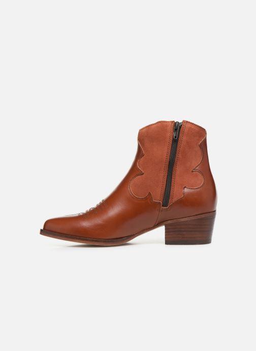 Bottines et boots Schmoove Woman Polly West Marron vue face