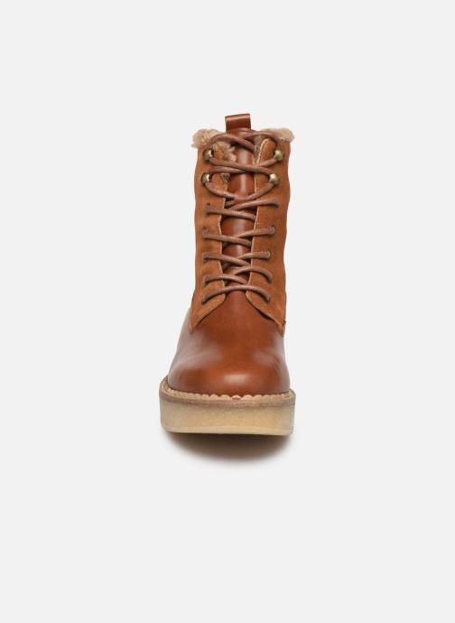 Bottines et boots Schmoove Woman Pallas Ranger Marron vue portées chaussures