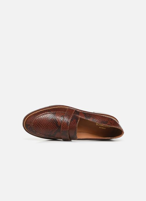 Loafers Schmoove Woman Call Moc Brown view from the left