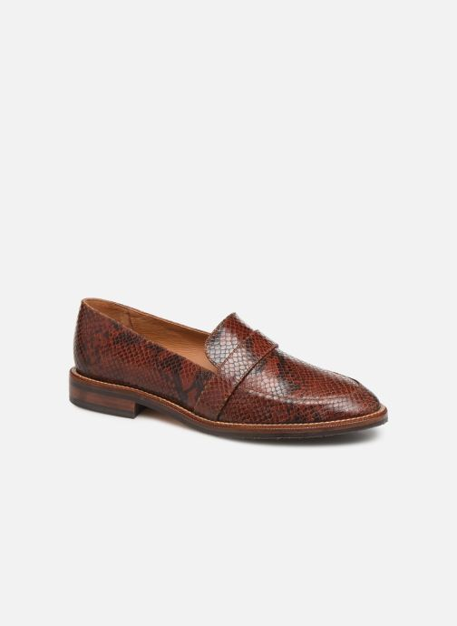Loafers Schmoove Woman Call Moc Brown detailed view/ Pair view