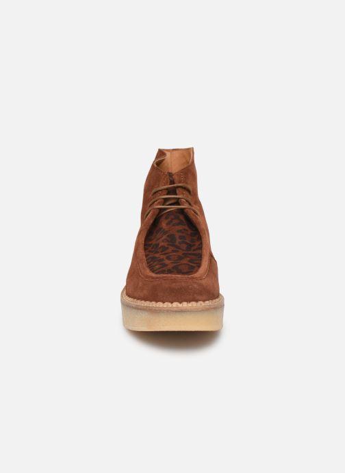 Bottines et boots Schmoove Woman Pallas Desert Marron vue portées chaussures