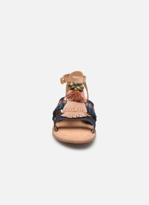 Sandales et nu-pieds Initiale Paris Eden Bleu vue portées chaussures