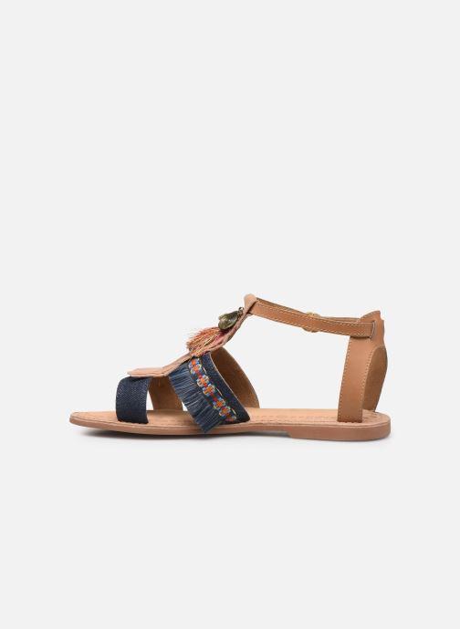 Sandales et nu-pieds Initiale Paris Eden Bleu vue face