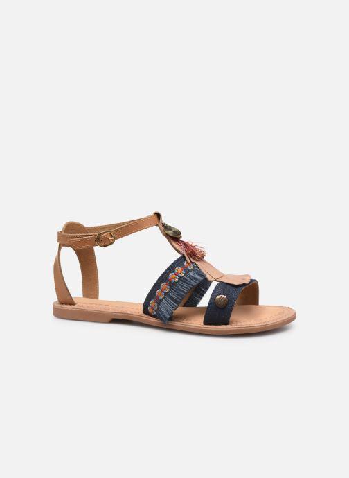 Sandales et nu-pieds Initiale Paris Eden Bleu vue derrière