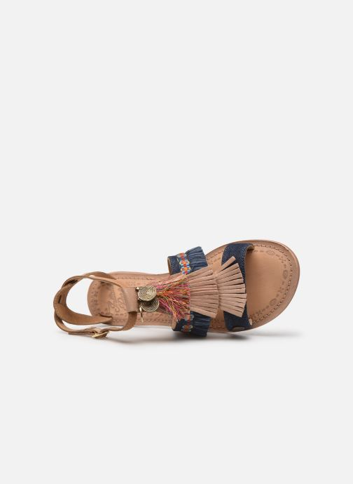 Sandales et nu-pieds Initiale Paris Eden Bleu vue gauche