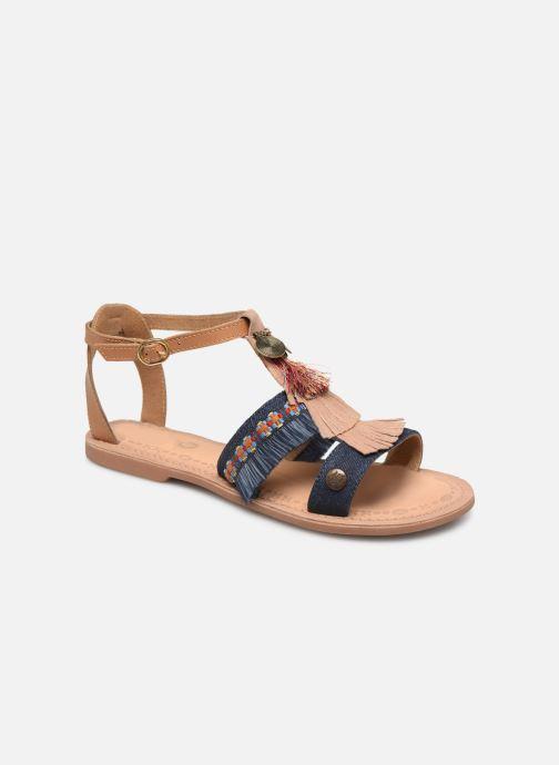 Sandales et nu-pieds Initiale Paris Eden Bleu vue détail/paire