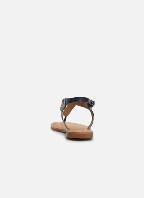 Sandals Initiale Paris Edi Blue view from the right