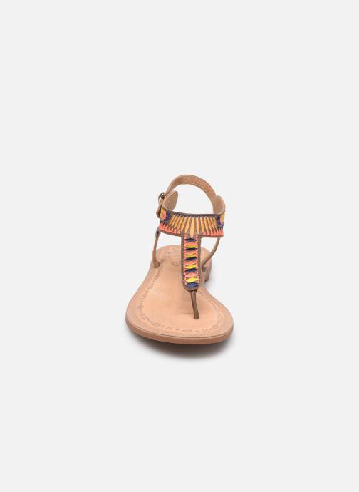Sandales et nu-pieds Initiale Paris Edi Marron vue portées chaussures