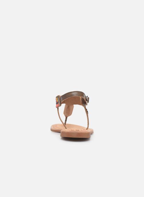 Sandales et nu-pieds Initiale Paris Edi Marron vue droite