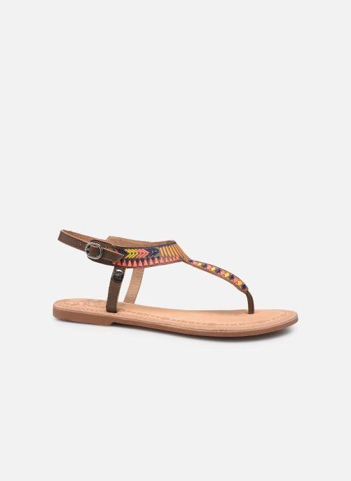 Sandales et nu-pieds Initiale Paris Edi Marron vue derrière