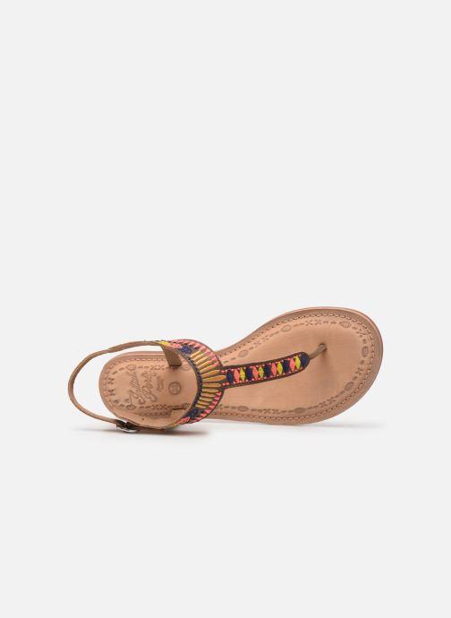 Sandales et nu-pieds Initiale Paris Edi Marron vue gauche