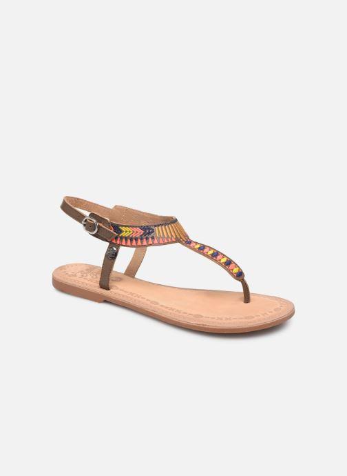 Sandales et nu-pieds Initiale Paris Edi Marron vue détail/paire