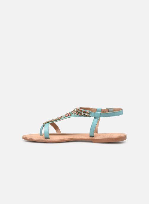 Sandales et nu-pieds Initiale Paris Enola Bleu vue face