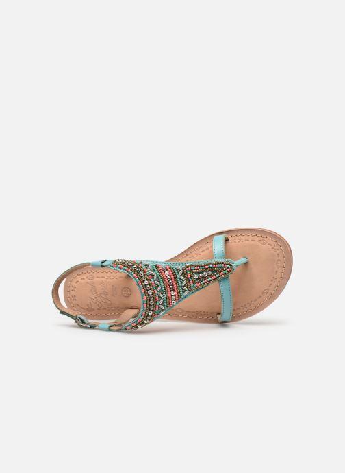 Sandales et nu-pieds Initiale Paris Enola Bleu vue gauche
