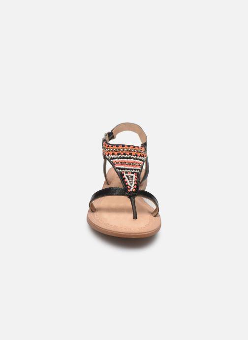 Sandales et nu-pieds Initiale Paris Enola Noir vue portées chaussures