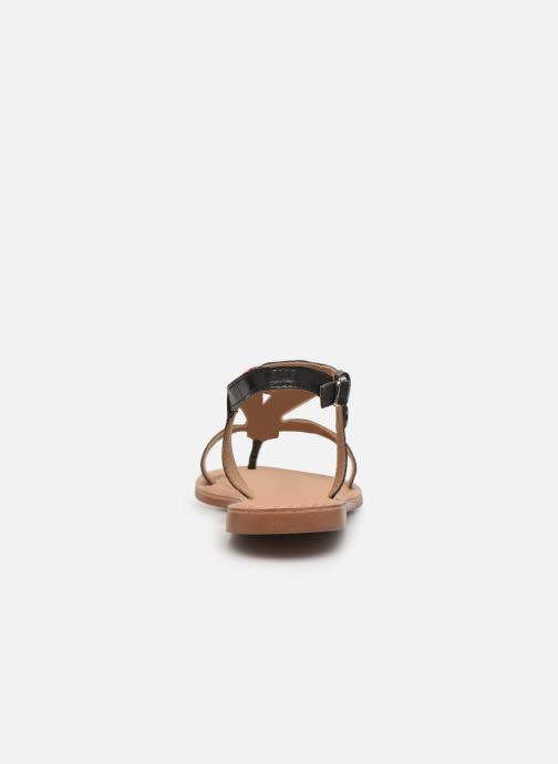 Sandales et nu-pieds Initiale Paris Enola Noir vue droite