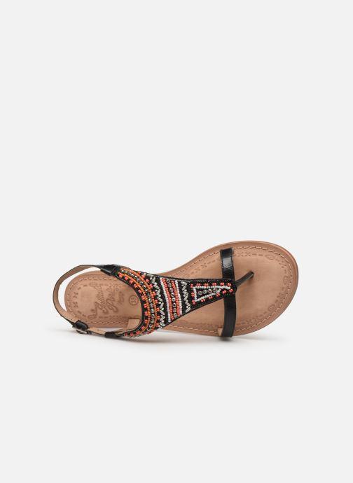 Sandales et nu-pieds Initiale Paris Enola Noir vue gauche