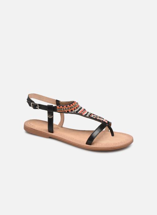 Sandales et nu-pieds Initiale Paris Enola Noir vue détail/paire