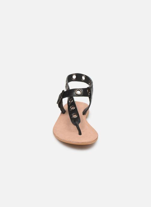 Sandales et nu-pieds Initiale Paris Maddie Noir vue portées chaussures
