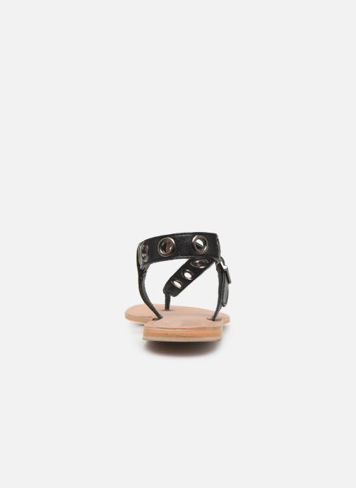 Sandales et nu-pieds Initiale Paris Maddie Noir vue droite