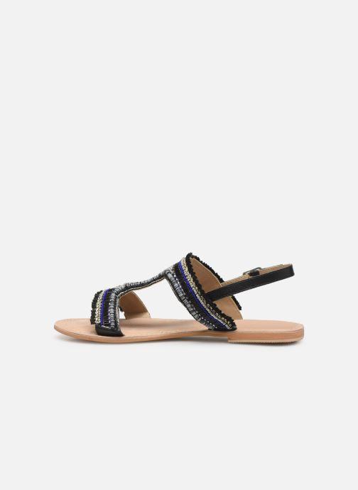 Sandalen Initiale Paris Malicia schwarz ansicht von vorne
