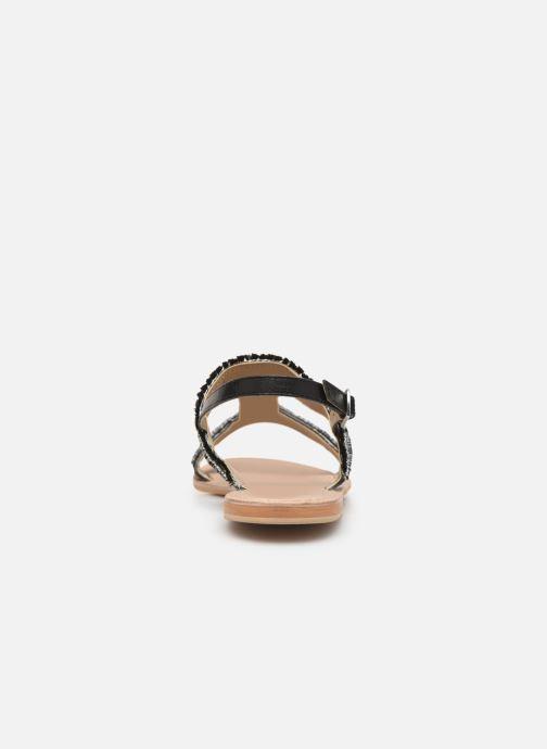 Sandalen Initiale Paris Malicia schwarz ansicht von rechts