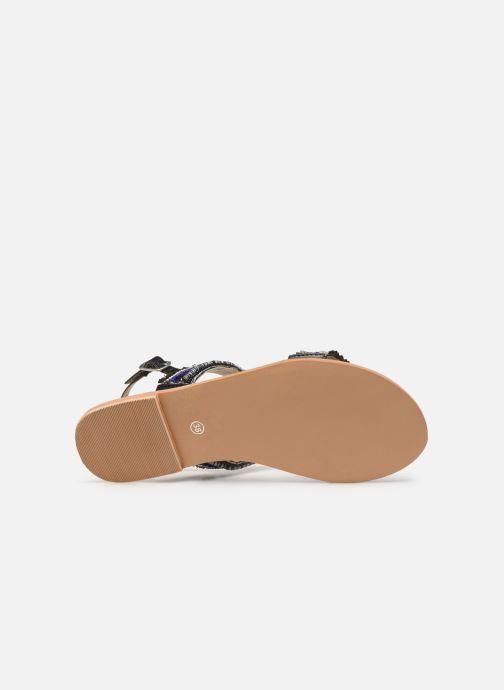 Sandalen Initiale Paris Malicia schwarz ansicht von oben