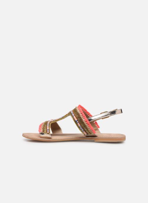 Sandales et nu-pieds Initiale Paris Malicia Or et bronze vue face