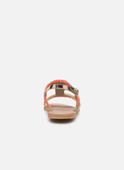 Sandales et nu-pieds Initiale Paris Malicia Or et bronze vue droite
