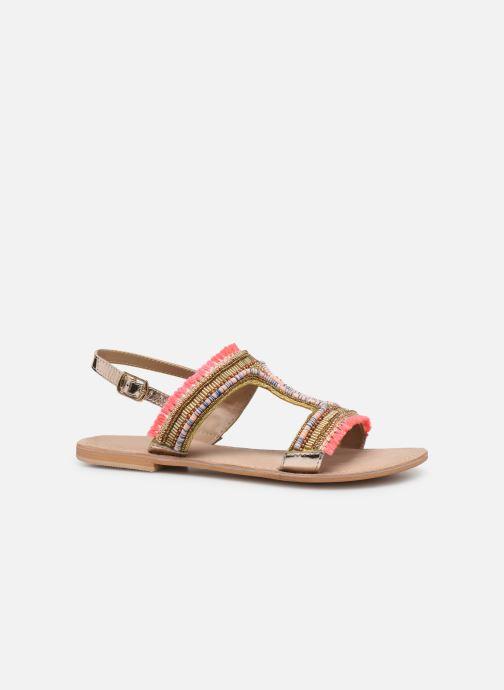 Sandales et nu-pieds Initiale Paris Malicia Or et bronze vue derrière