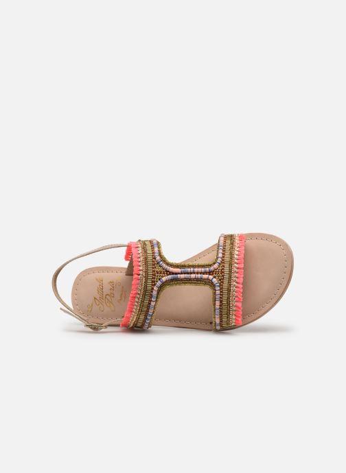 Sandales et nu-pieds Initiale Paris Malicia Or et bronze vue gauche
