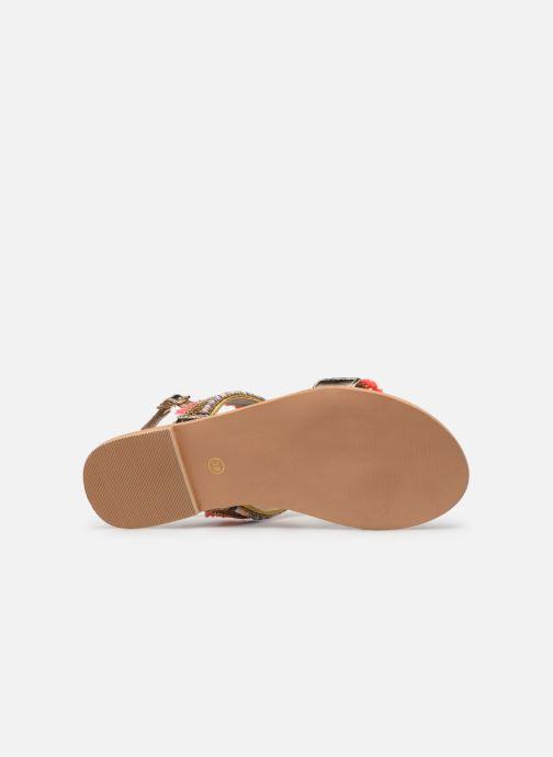 Sandales et nu-pieds Initiale Paris Malicia Or et bronze vue haut