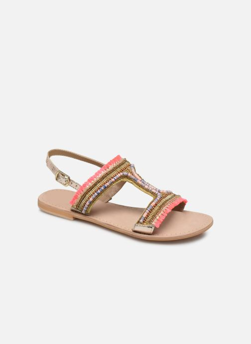 Sandales et nu-pieds Initiale Paris Malicia Or et bronze vue détail/paire