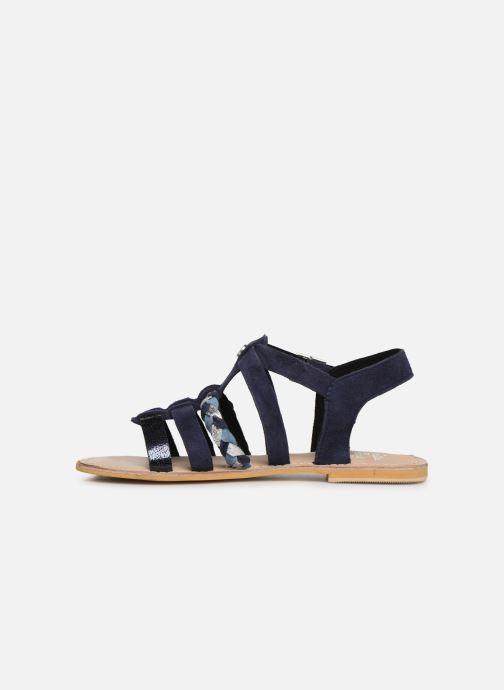 Sandales et nu-pieds Initiale Paris Maya Bleu vue face