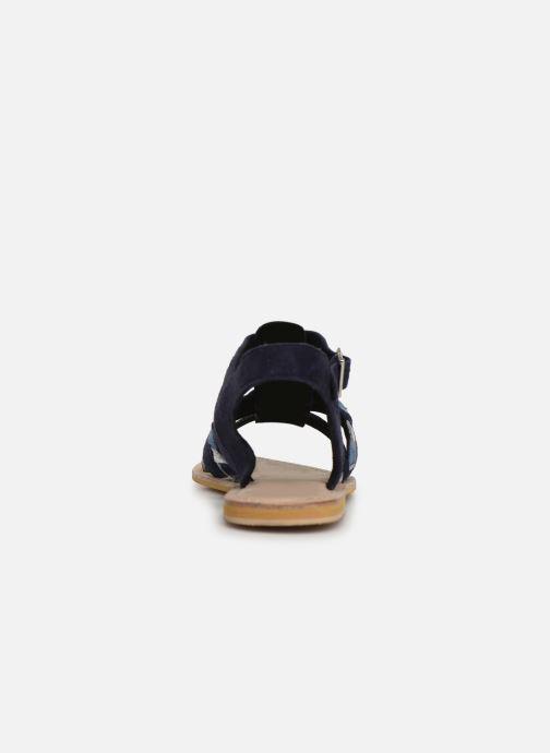 Sandales et nu-pieds Initiale Paris Maya Bleu vue droite