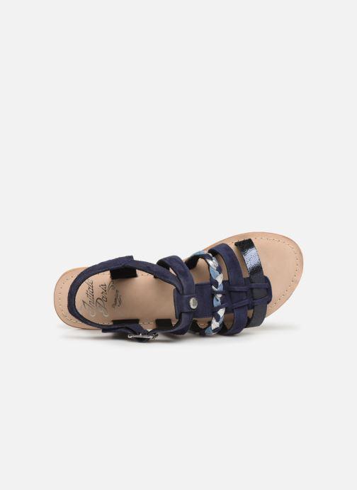 Sandales et nu-pieds Initiale Paris Maya Bleu vue gauche