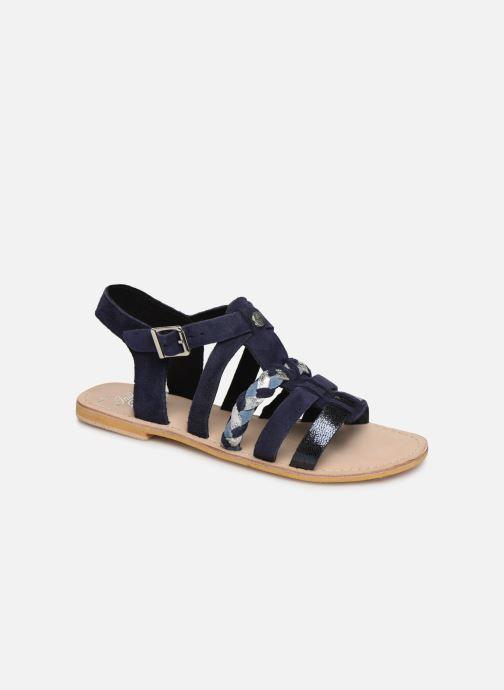 Sandales et nu-pieds Initiale Paris Maya Bleu vue détail/paire