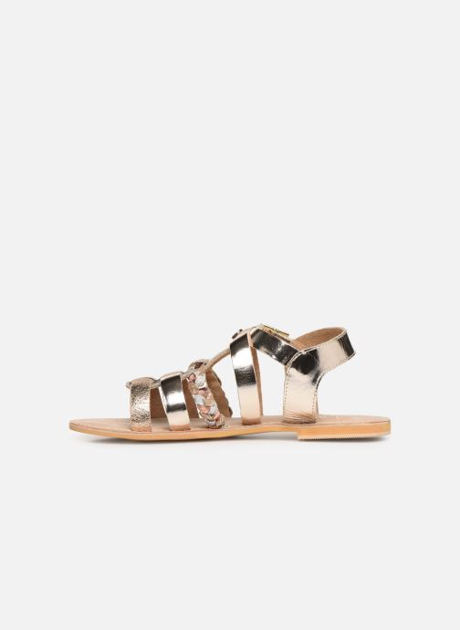 Sandales et nu-pieds Initiale Paris Maya Or et bronze vue face