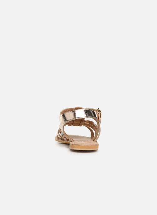 Sandales et nu-pieds Initiale Paris Maya Or et bronze vue droite